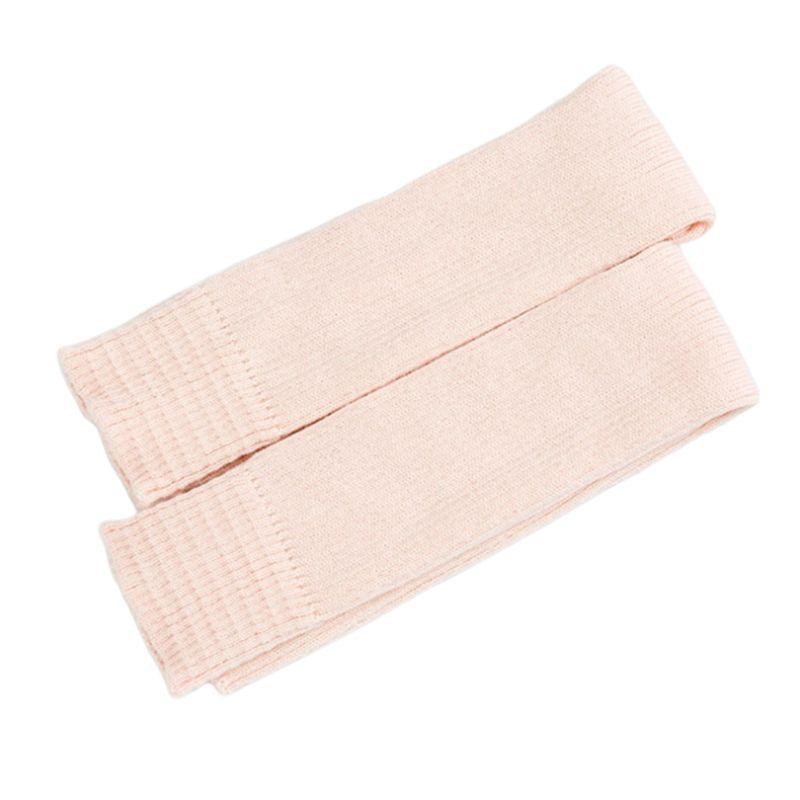 Women Girls Winter Knee Length Leg Warmers Ballet Dance Yoga Ribbed Knit Solid Color Stirrup Thermal Footless Long Socks