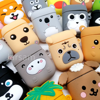 Cute Cartoon Wireless Earphone Case For Apple AirPods 2 Silicone Charging Headphones Case for Airpods Protective Cover cartoon cute soft earphone case for apple airpods 1 2 silicone headphones case for airpods protective cover accessories