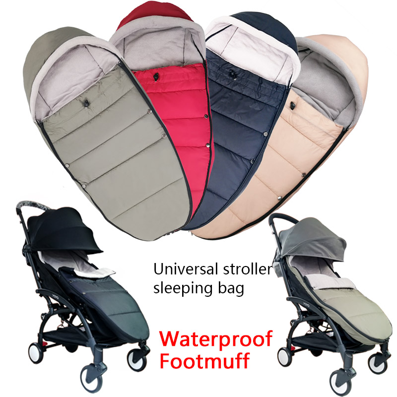 Baby Carriage Winter Sleeping Bag Windproof Cover Bilateral Zipper For Bugaboo 90% Stroller Warm Footmuff Stroller Accessories