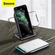 Baseus 15 Вт Qi Беспроводное зарядное устройство для iPhone 11 Pro Xs Max быстрая Беспроводная зарядка Pad для Samsung S10 Xiaomi Mi 9 индукционное зарядное устройство