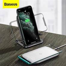 Cargador inalámbrico Baseus 15W Qi para iPhone 11 Pro Xs Max almohadilla de carga inalámbrica rápida para Samsung S10 Xiaomi mi 9 cargador de inducción