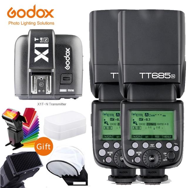 Godox TT685 TT685N 2.4G sans fil i ttl haute vitesse sync 1/8000s GN60 Flash Speedlite X1T N déclencheur pour appareil photo Nikon