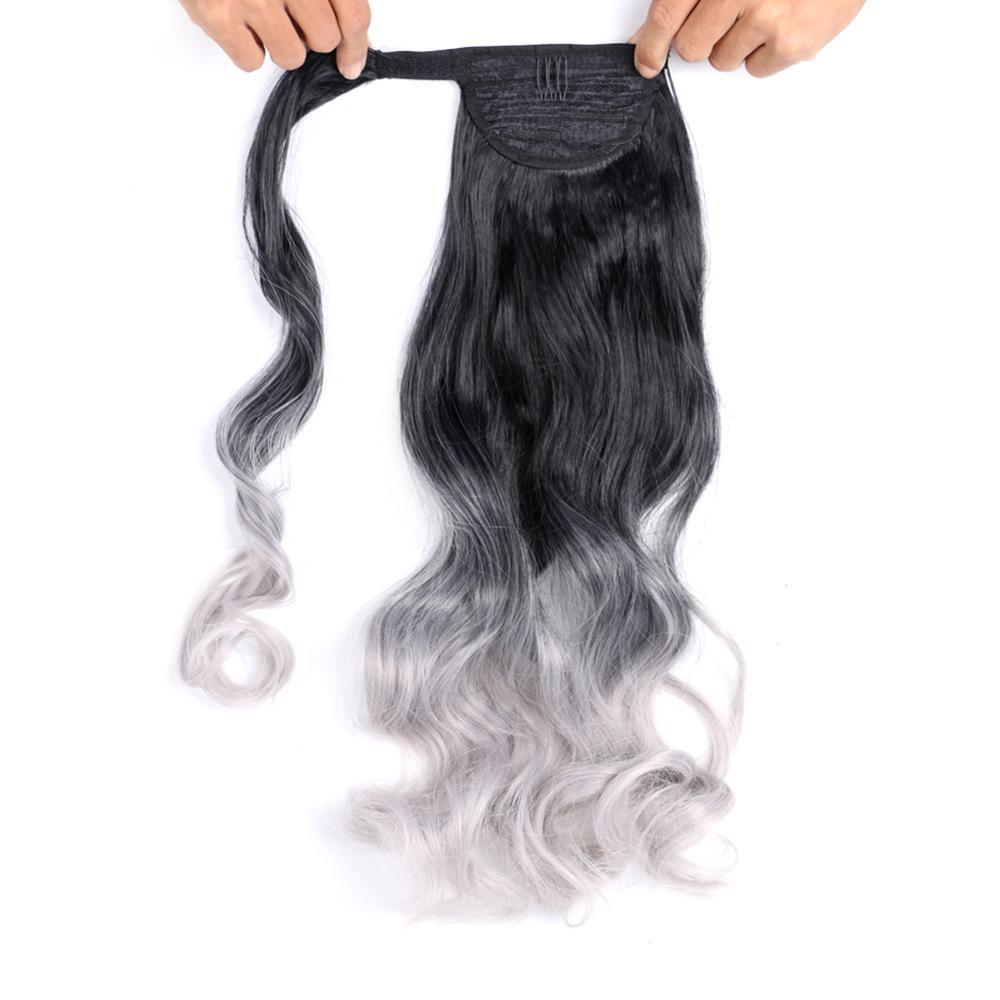 em encaracolado rabo de cavalo extensão do cabelo para mulher