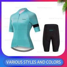 2020 Chic Radfahren Kleidung Jersey Set Frauen Sommer Radfahren Jersey Kurzarm Ropa Ciclismo Rennrad Jersey MTB Radfahren Kleiden