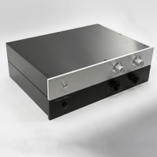 цены Full Aluminum luxury preamplfier Enclosure audio box headphone Case Power Amplifier Chassis 430*70*308mm