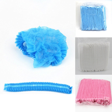 100 шт одноразовая шапочка для душа, Нетканая плиссированная шапка против пыли для ванны, гостиничного салона, Набор принадлежностей, унисекс, шапочка для душа