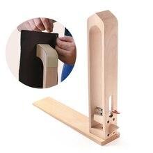 Couro de madeira artesanato mão costura pônei couro artesanato lacing costura diy mesa desktop ferramenta portátil cavalo braçadeira 1pc #9