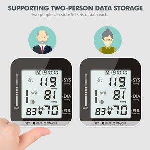 Image 2 - OLIECO Elektrische Handgelenk Blutdruck Monitor Stimme Rundfunk 2 Person Daten Speicher Große LCD Bildschirm Tonometer Blutdruckmessgerät