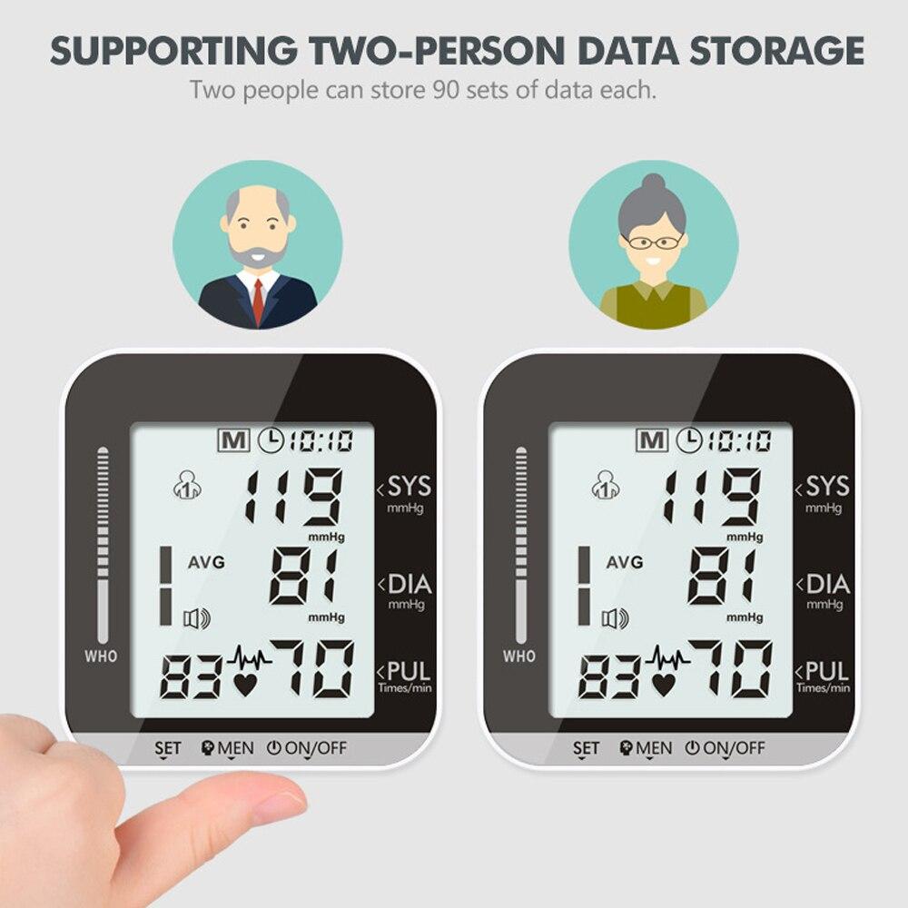 Image 2 - OLIECO Elettrico Monitor di Pressione Sanguigna del Polso di Trasmissione Voce 2 Persona di Dati di Memoria Grande Schermo LCD Tonometro SfigmomanometroPressione sanguigna   -