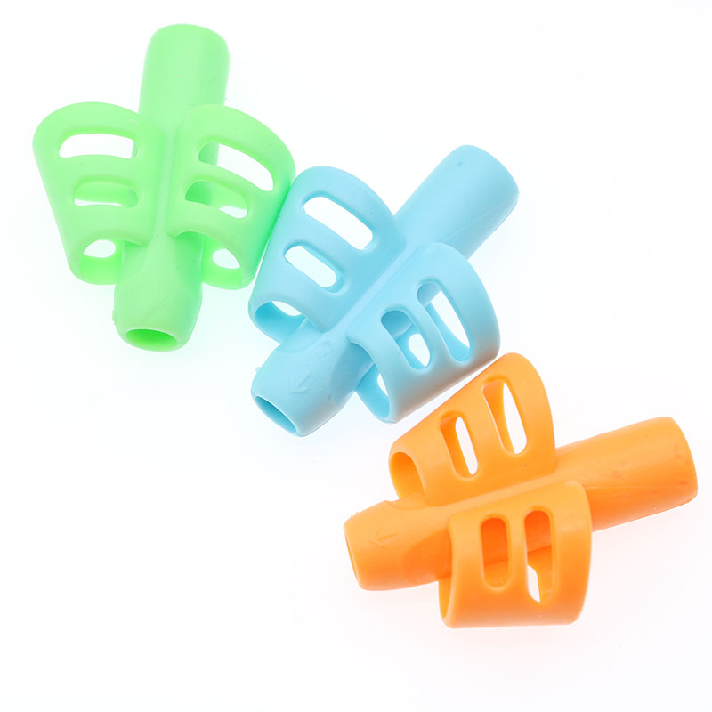 3 Piece Set Gift 2 Piece Fish Two-Finger Pen Holder Silicone Learning Writing Tool  Correction Pencil Set  4