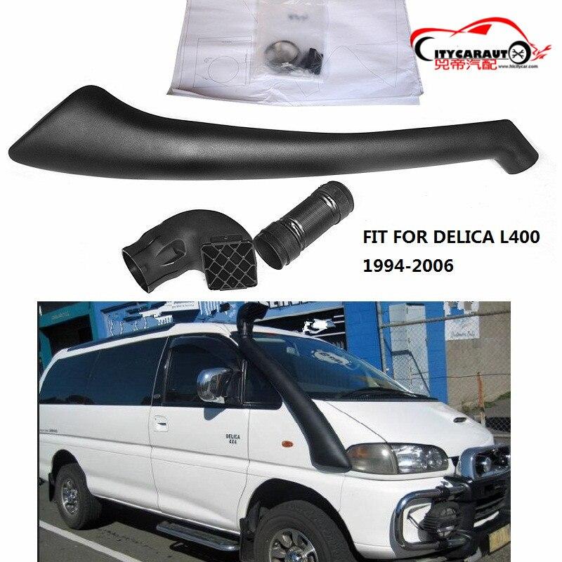 CITYCARAUTO 4*4 AIR PIPE INTAKE SNORKEL KIT SET LLDPE SNORKEL FIT FOR MITUBISHI DELICA L400 DIESEL PETROL 1994-2006 CAR MANIFOLD