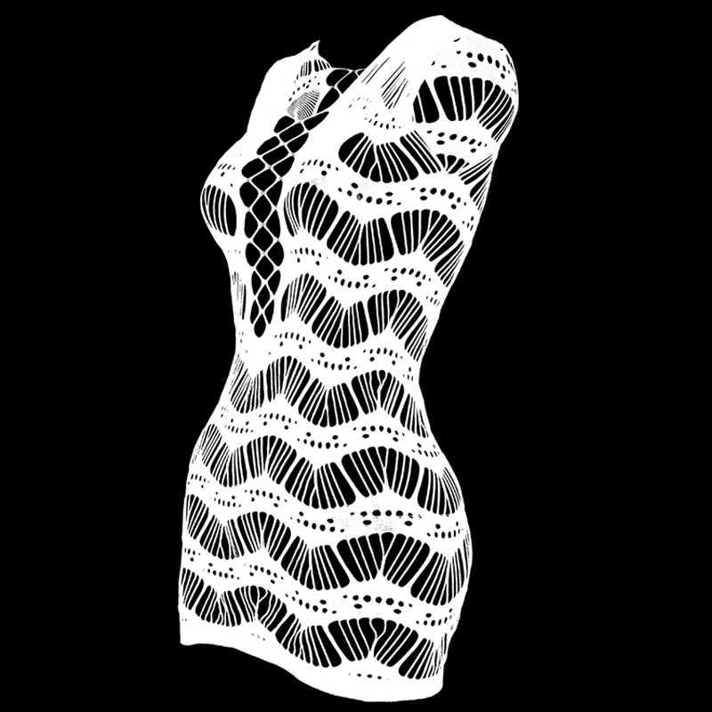 プラスサイズ網セクシーなランジェリーのエロランジェリー中空女性ランジェリーネットスカートセクシーなミニパジャマ卸売