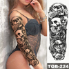 Transfer Stickers Women Egypt Body Decoration Tattoo Sleeve For Men Kit Glitter Caterina Day Of The Dead Skull Rose Dark Wind