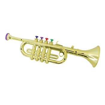 Trąbka zabawka z 3 kolorowymi klawiszami Instrument muzyczny prezent dla dzieci dzieci tanie i dobre opinie Tooyful