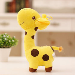 18cm Unisex Cute Gift Plush Giraffe Soft Toy Animal Dear Doll Baby Kid Child Christmas Birthday Happy Colorful Gifts 5 Colors