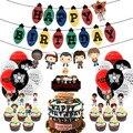 44 шт./компл. воздушные шары на день рождения «очень странные дела», баннер на день рождения, топпер для торта для детей, украшения на день рож...