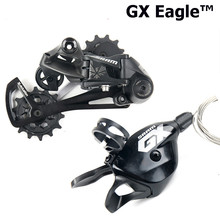 SRAM GX EAGLE Groupsetชุด1X12S 12 Speed MTBจักรยานเสือภูเขาจักรยานTrigger Shifter Leverขวาด้านหลังDerailleurสีดำ