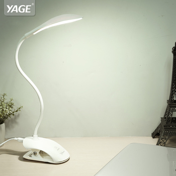YAGE YG-5933 Desk lamp USB led Table Lamp 14 LED with Clip Bed Reading book Light Touch 3 Modes - discount item  45% OFF Indoor Lighting