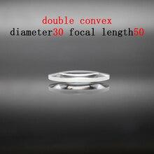 Diameter 30mm Focal Length 50mm Optical Double Convex Lens Factory Custom Optical Glass Prism and Lens линза сменная dragon optical d1 xt lens желтый
