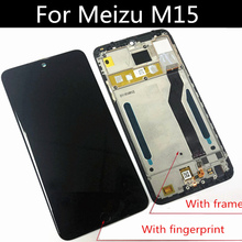 With frame For Meizu M15 LCD M871Q LCD Display+Touch Screen Digitizer Assembly  For Meizu M15  LITE  Replacement Parts best working mx3 lcd display touch screen digitizer assembly for meizu mx3 smart phone spare parts white