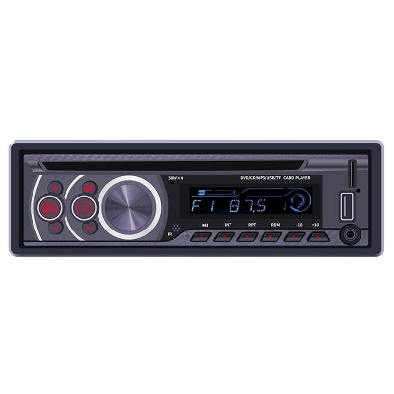 Car Radio Bluetooth Car Stereo MP3 Player 1 Din Car Audio CD VCD DVD Player AUX USB FM Radio Receiver In Dash Head Unit image