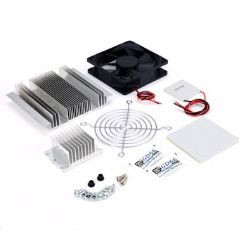 semiconductor cooling plate small air conditioning heat dissipation module portable 12v electronic cooler production kit diy Exquisite 1pc DC 12V Metal Peltier Semiconductor Cooler DIY Kit For Refrigeration Air Conditioner System