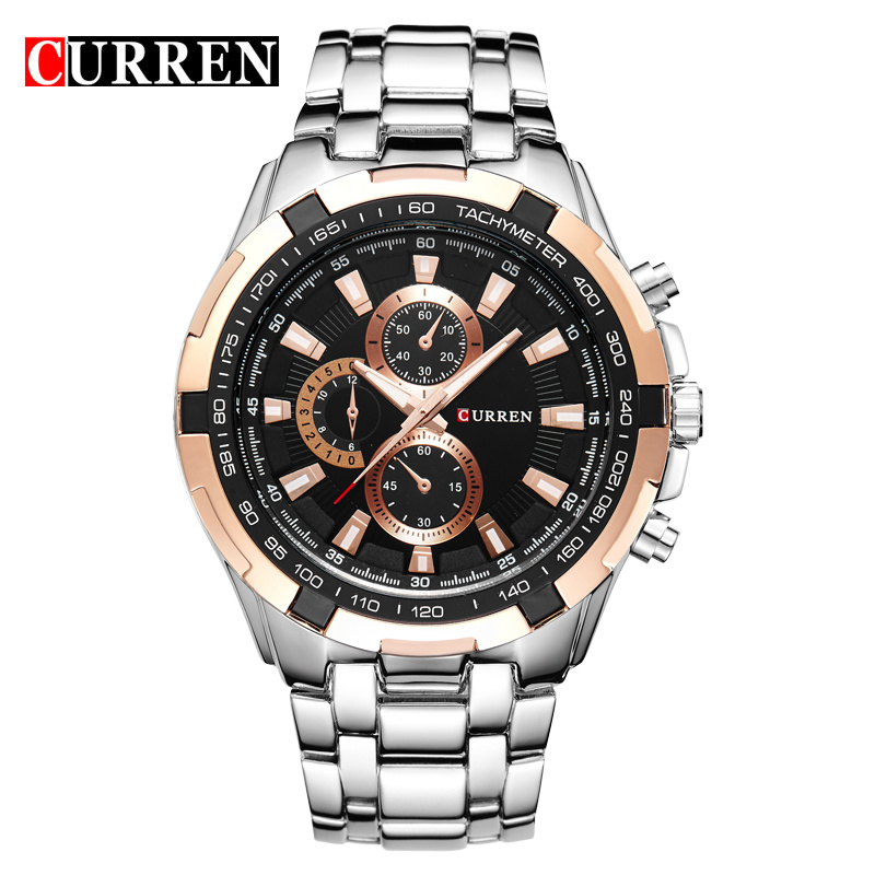 CURREN Quartz men Watches Top Brand Luxury Men Military Wrist Watches Full Steel Men Sports Watch Waterproof Relogio Masculino