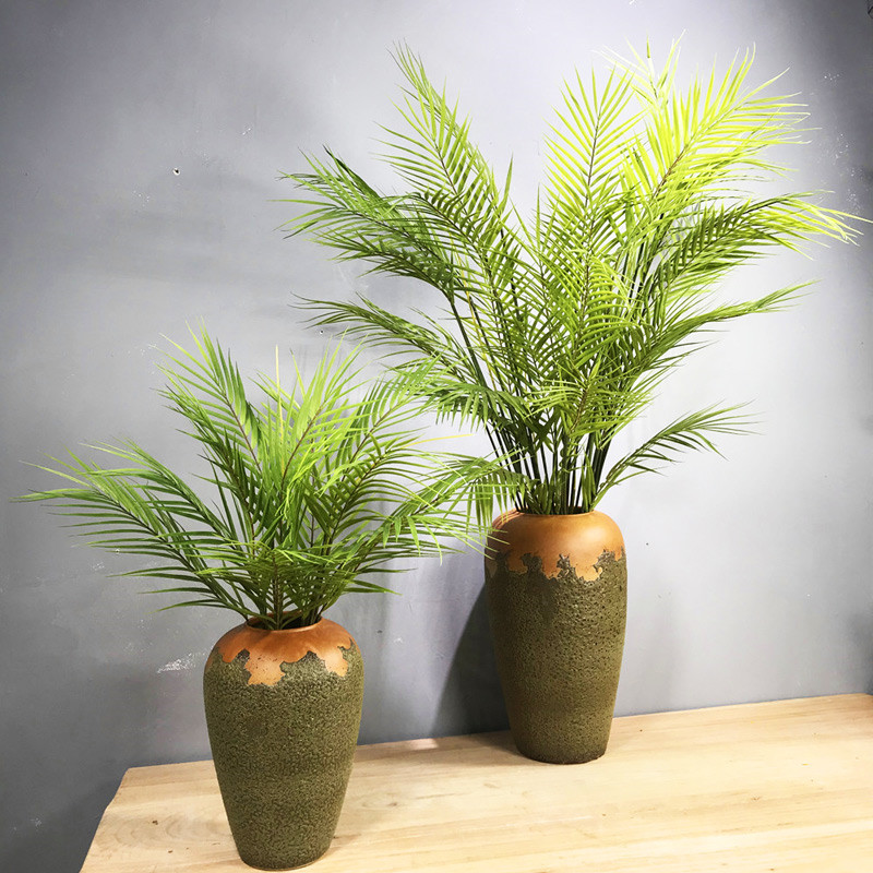 125CM 11Leaves Large Artificial Palm Plants Plastic Monstera Fake Tropical  Tree Bouquet Indoor Potted Hotel Wedding Home Decor|Artificial Plants| -  AliExpress