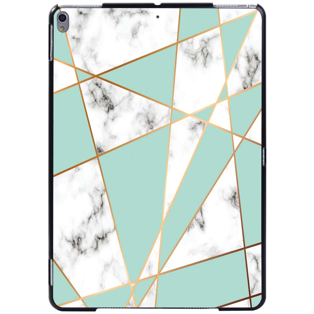 green geometric White For Apple iPad 8 10 2 2020 8th 8 Generation A2428 A2429 Slim Printed Marble tablet
