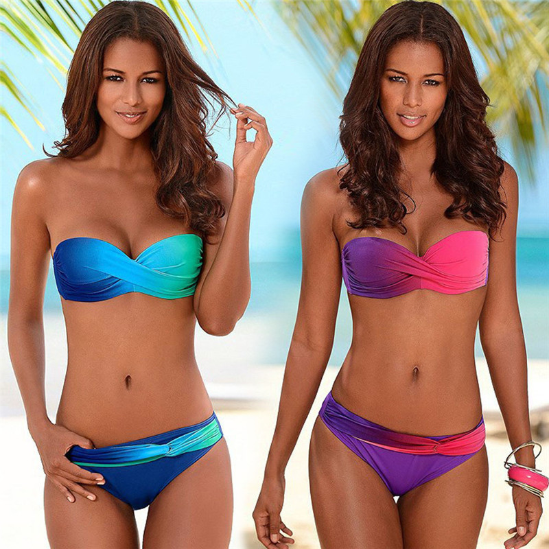 Biquini Sexy Bathing Suit Print Swimwear Bikinis 2019 Mujer Two Piece Swimsuit Push Up Bikini Set Beachwear Micro Bikini