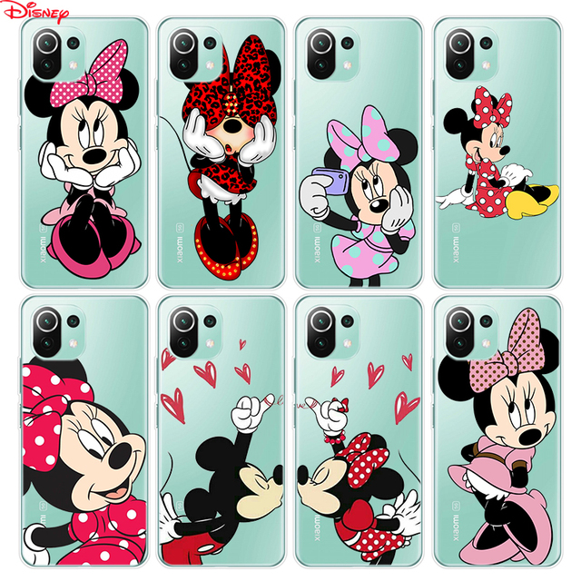 Silicone Cover Lovely Minnie Mouse For Xiaomi Mi Note 11 11i 10i 10T 10 9 9T SE 8 Lite Pro Ultra Phone Case