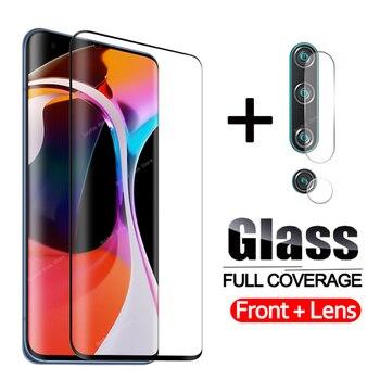 Перейти на Алиэкспресс и купить 2 в 1 100D закаленное стекло для Xiaomi Mi Note 10 Lite объектив для камеры glas для Xiaomi note 10 pro 10lite 10pro защитное стекло
