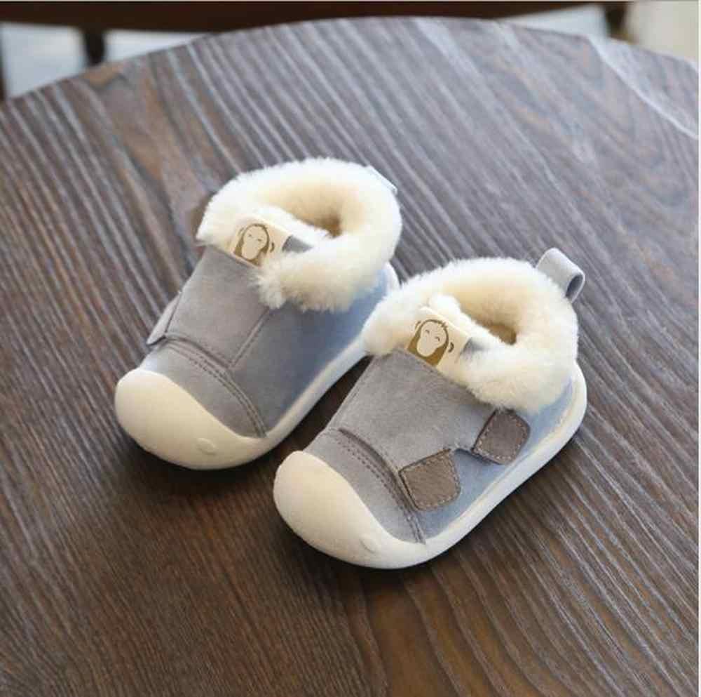 2019 Winter Baby Peuter Laarzen Warme Pluche Baby Meisjes Jongens Snowboots Outdoor Zachte Bodem Antislip Kind Kids laarzen Schoenen