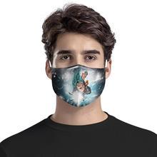 Cartoon goku 4Pcs PM2.5 Filter Gas Masks Carbon Insert Anti-dust Masks Washable Mask Reusable Face Mask Non-disposable Moth Mask