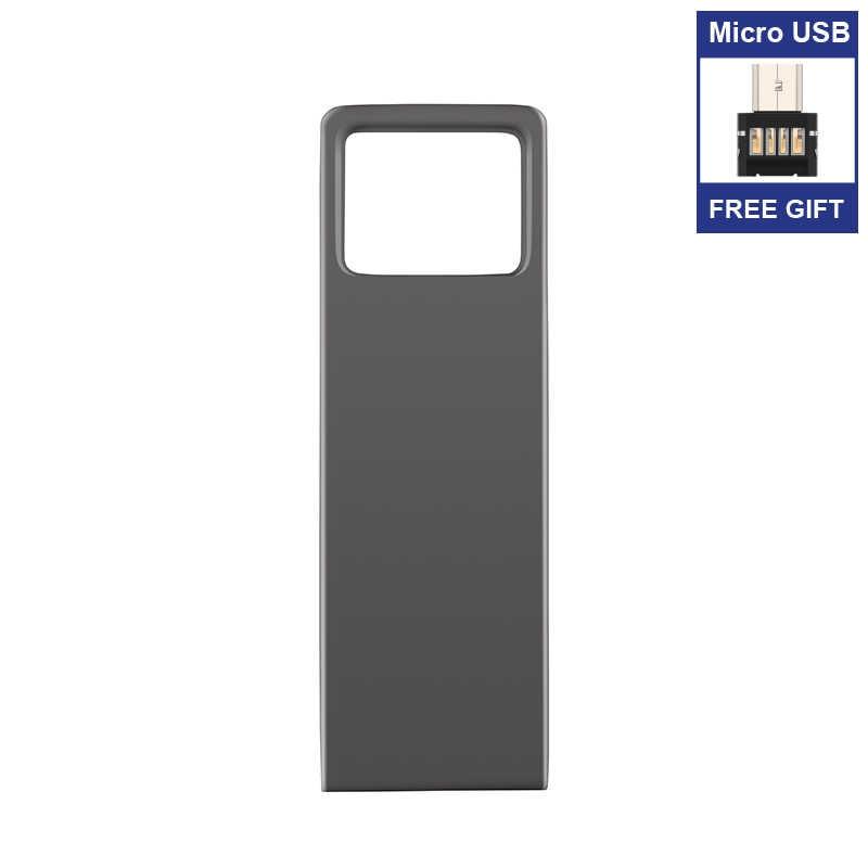Cadeau Micro USB adaptateur nouveau usb flash drive 128GB 64GB 32GB 16GB 8GB stylo lecteur clé USB étanche métal argent u disque