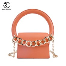RARE CREATIVE Small Totes Big Handle Designer Handbag PU Leather Brand Crossbody Bag Fashion Women Bags Chain Clutch PS8023