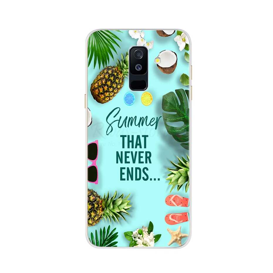สำหรับ Samsung Galaxy A6 Plus A6Plus 2018 กรณี Samsung A6 Plus กรณีซิลิโคนนุ่มสำหรับโทรศัพท์ funda A6 6 A6 +