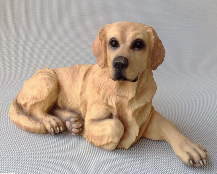 new real life Golden dog model Resin simulation lying dog Home Decoration gift about 36x20cm xf2823