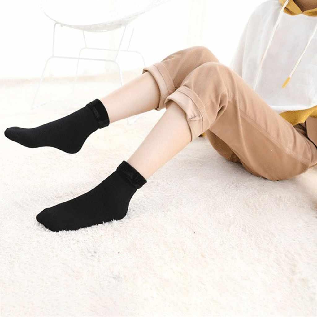Feitong kış kadın dikişsiz kadife çizmeler zemin uyku tulumu yün kalınlaştırmak