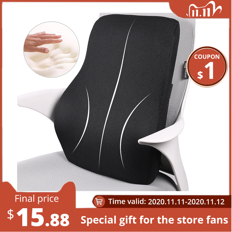 Lumbar Support Pillow  Memory Foam Chair Cushion Supports Lower Back accessories car pillow  memory foam pillow