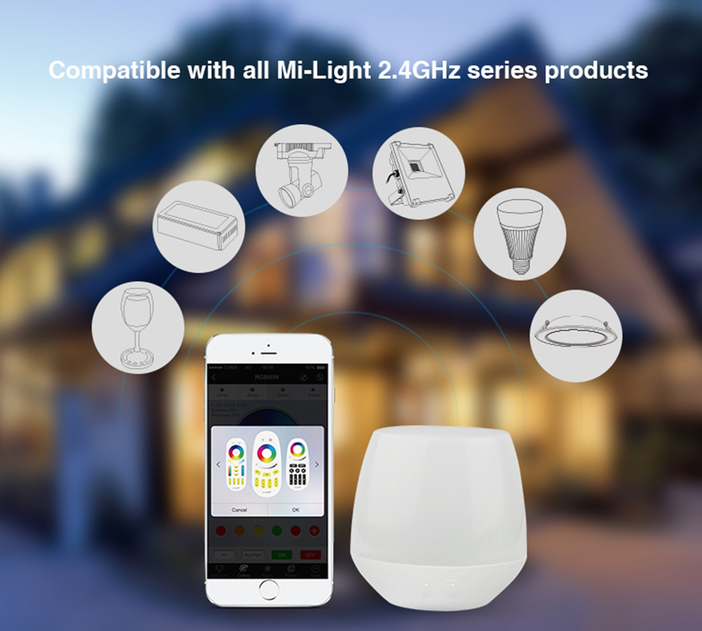 DC5V IBox1 Milight Wifi Controller With RGB Light Wireless For Milight Led Bulbs Support IOS Android APP #