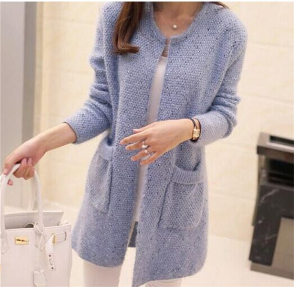 Sweaters Long Coat Cardigan Women Sweater 2019 Spring Autumn Knitted Jacket And Coats Fashion Crochet Tops Female Clothes Black