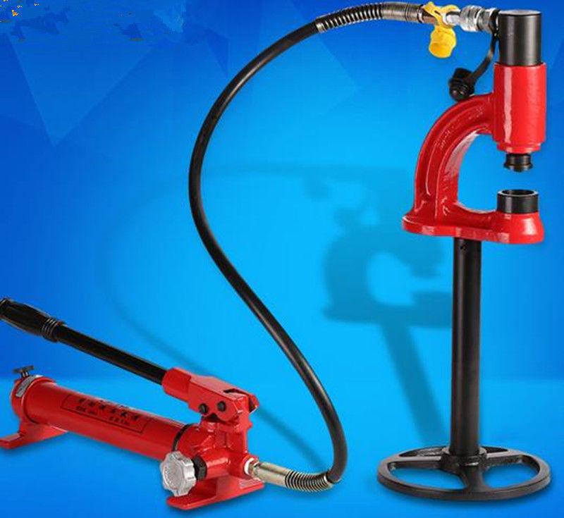 1pc perforateur hydraulique SYD-35 ouvre-bassin en acier inoxydable outils de poinçonnage hydraulique avec pompe manuelle