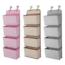 4 Pocket Hanging Storage Box Non-woven multi-layer Cabinet Fabric Hanging Door Storage Sorting Bags