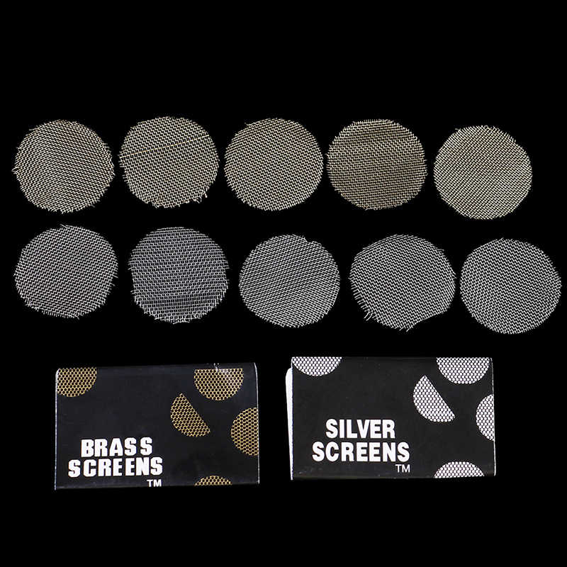 100 個シルバー画面金属ガラス木製アクリル水喫煙たばこパイプフィルタシーシャ/水ギセル/chicha/narguile