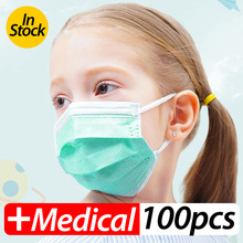 Profession Child Kids Boy Girl Medical Mask 100Pcs/Pack Surgical 3-Ply PM2.5 N95 Nonwoven Disposable Breathable Face Mask