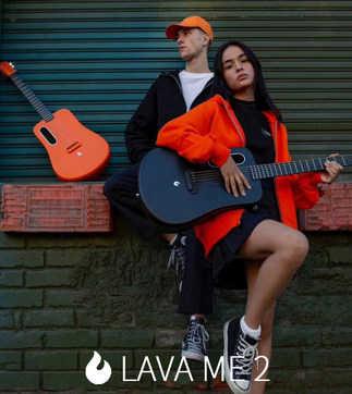 LAVA ME 2 народная гитара из углеродного волокна для начинающих, начинающих, студентов, для выступлений, 36In, Unibody, подарки, включая гитарные пачки и медиаторы