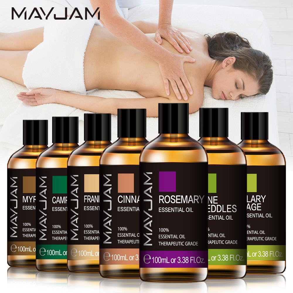 100ml Pure Natural Essential Oils Body Massage Oil Diffuser Rosemary Frankincense Cinnamon Clary Sage Myrrh Pine Camphor Ginger