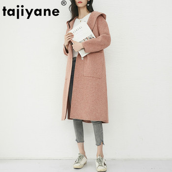 Spring Autumn Jacket Women Clothes 2019 Elegant Long Wool Coat Casual Korean Female Woolen Coats Outerwear JLF-2518 ZT2480