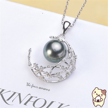 Pendant Mount Pearl Accessories 925 sterling silver pendant of the same design Jewelry DIY No Pearl Free Shipping 2019D056 цена 2017